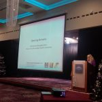 Welcoming the delegates with Maeve McLaughlin