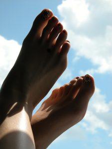 Happy feet in the sunshine